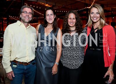 Neil Barrett, Liz Norton, Julia Cohen, Lyle Babuscio. Photo by Tony Powell. WL Inaugural Chef's Roast of Nora Pouillon. Union Market. September 22, 2014
