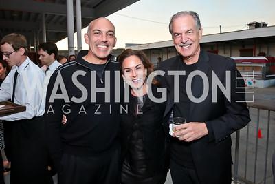 Jonathan Silver, Melissa Moss, Robert Borosage. Photo by Tony Powell. WL Inaugural Chef's Roast of Nora Pouillon. Union Market. September 22, 2014