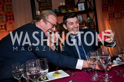 Michael Nischan, Nora Pouillon, Danny Boome. Photo by Tony Powell. WL Inaugural Chef's Roast of Nora Pouillon. Union Market. September 22, 2014