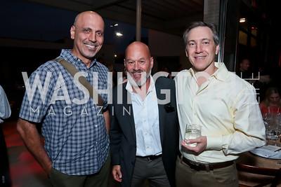 Andy Shallal, Jim Epstein, Scott Nash. Photo by Tony Powell. WL Inaugural Chef's Roast of Nora Pouillon. Union Market. September 22, 2014