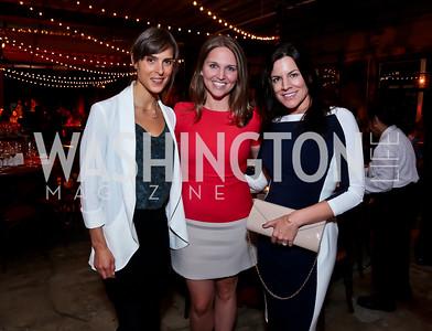 Noemie Bessette, Kyla Hochfilzer, Colleen Gerg. Photo by Tony Powell. WL Inaugural Chef's Roast of Nora Pouillon. Union Market. September 22, 2014