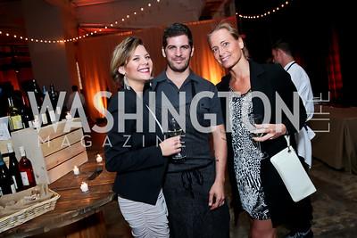 Lee-Ann Brown, Adam Howard, Brigitte Anders-Kraus. Photo by Tony Powell. WL Inaugural Chef's Roast of Nora Pouillon. Union Market. September 22, 2014