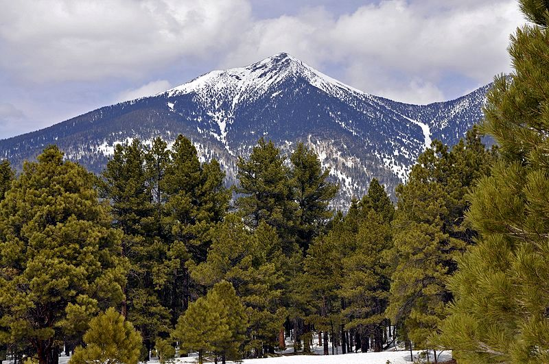 At 12,637 feet above sea level, Humphreys Peak is the highest point in the state of Arizona.