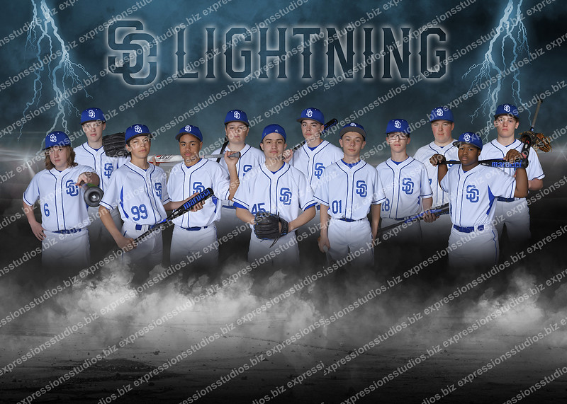 City Lightning Baseball Poster copy