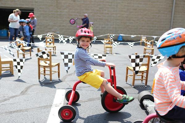 Jake bike Race Day Discovery Preschool 5-6-15 Johnny, Nana papa