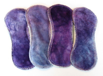 """FOUR 6inch TinyLiners - """"purples"""""""