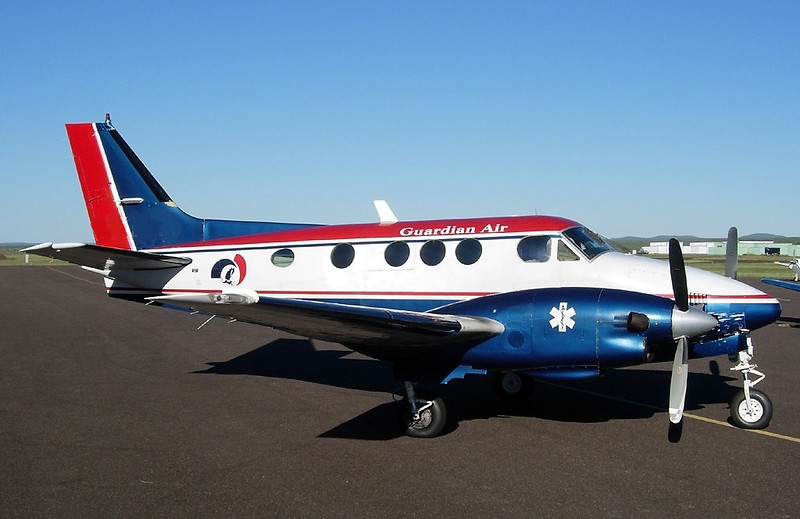 THE AIRCRAFT<br /> <br /> The Beechcraft E-90 King Air (N300SP) was owned by Flagstaff Medical Center and operated by Guardian Air Transport, a subsidiary at the time of Flagstaff Medical Center. <br /> <br /> The aircraft was based in Flagstaff, Arizona as the primary EMS (Emergency Medical Services) Aircraft. It was equipped with two Pratt and Whitney PT6A turboprop engines. Total airframe time on the aircraft was 5,952 hours.