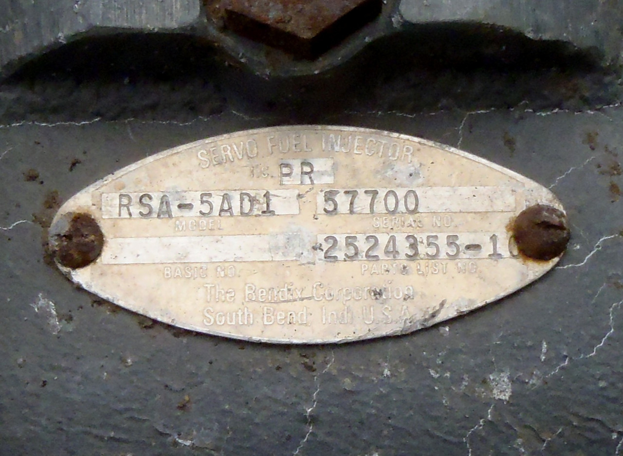 The part ID tag helps identify the component with a part and serial number.