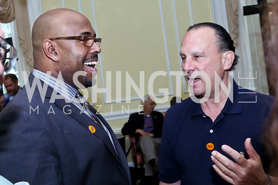 Christian McBride, Blues Alley Owner Harry Schnipper. Photo by Tony Powell. On the 60th Anniversary of the Newport Jazz Festival. National Archives. June 19, 2014