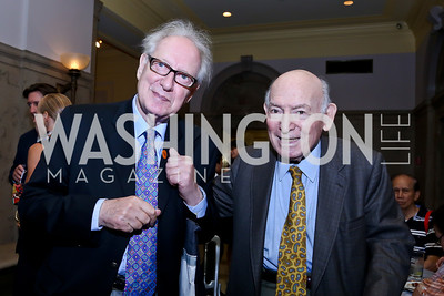 Jazz critic and librarian Dan Morganstern, Newport Jazz Fest Founder George Wein. Photo by Tony Powell. On the 60th Anniversary of the Newport Jazz Festival. National Archives. June 19, 2014