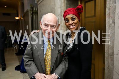 Newport Jazz Festival Founder George Wein, Dr. Glory Van Scott. Photo by Tony Powell. On the 60th Anniversary of the Newport Jazz Festival. National Archives. June 19, 2014