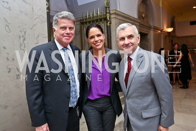 Archivist of the United States David Ferriero, Soledad O'Brien, Sen. Jack Reed. Photo by Tony Powell. On the 60th Anniversary of the Newport Jazz Festival. National Archives.JPG