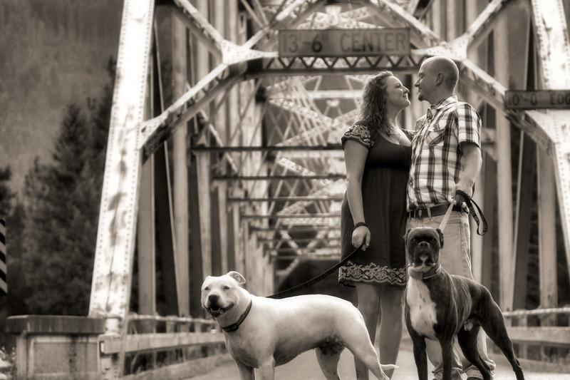 Birdland Bay bridge family shot