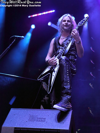 Judas Priest perform at the Tsongas Center in Lowell, MA on Oct. 14, 2014