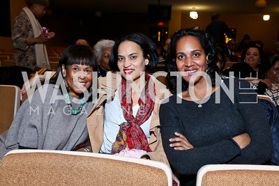 Judith Griffin, Allison Pierre, Kristin Pierre. Photo by Tony Powell. Judge Constance Baker Motley Film Screening. Community Academy Public Charter Schools. January 18, 2014