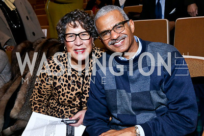 Leslye and Darryl Fraser. Photo by Tony Powell. Judge Constance Baker Motley Film Screening. Community Academy Public Charter Schools. January 18, 2014