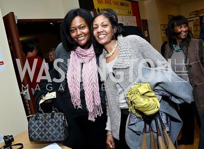 Susan Leigh, Lynn Ellis Taylor. Photo by Tony Powell. Judge Constance Baker Motley Film Screening. Community Academy Public Charter Schools. January 18, 2014