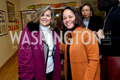 Cliftine Jones, Nata Brown. Photo by Tony Powell. Judge Constance Baker Motley Film Screening. Community Academy Public Charter Schools. January 18, 2014