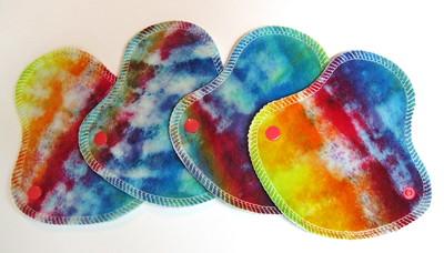 "FOUR HalfWrap Liners - breathable - ""rainbow splatter"""