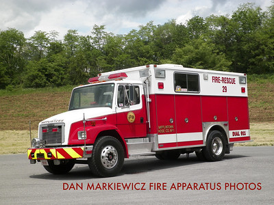 MIFFLINTOWN HOSE CO. RESCUE 29 1995 FREIGHTLINER/SWAB RESCUE