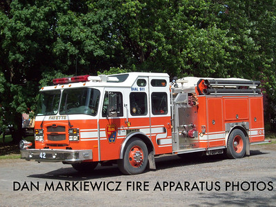FAYETTE FIRE CO. MCALISTERVILLE ENGINE 42-1 2003 E-ONE PUMPER