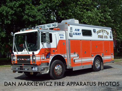 FAYETTE FIRE CO. MCALISTERVILLE AIR 48 1988 MACK/SAULSBURY AIR LIGHT UNIT