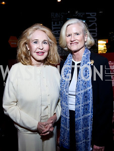 Joan Kennedy, Caroline Croft. Photo by Tony Powell. Kara Kennedy Fund Launch Party. Jaleo Bethesda. February 18, 2014