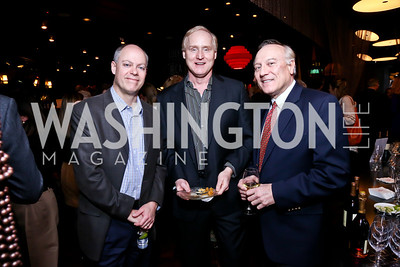 George Harrop, John King, Martin Hannes. Photo by Tony Powell. Kara Kennedy Fund Launch Party. Jaleo Bethesda. February 18, 2014