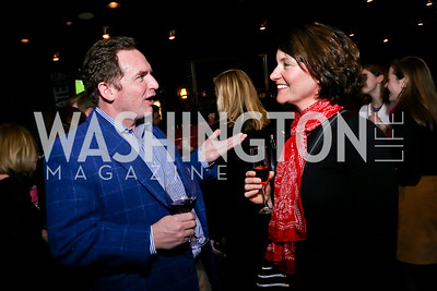 George Spicer, Amy MacIsaac. Photo by Tony Powell. Kara Kennedy Fund Launch Party. Jaleo Bethesda. February 18, 2014