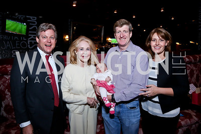 Ted Kennedy, Joan Kennedy, Nora Kara, Patrick and Amy Kennedy. Photo by Tony Powell. Kara Kennedy Fund Launch Party. Jaleo Bethesda. February 18, 2014