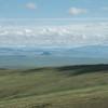 Scenic stop en route to Hustain Nuruu. Horses grazing on the ridge