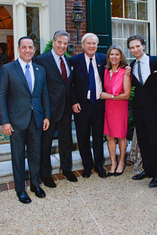 Philip Levine, Paul Pelosi, Chris Matthews, Kathleen Matthews, Sebastian Arcelus