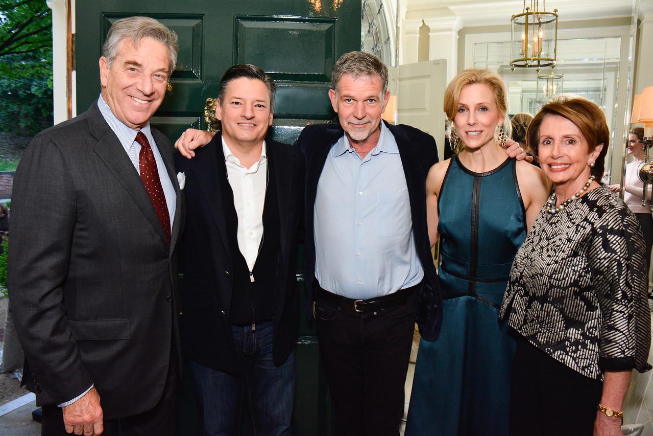 Paul Pelosi, Ted Sarandos, Reed Hastings, Katherine Bradley, Nancy Pelosi