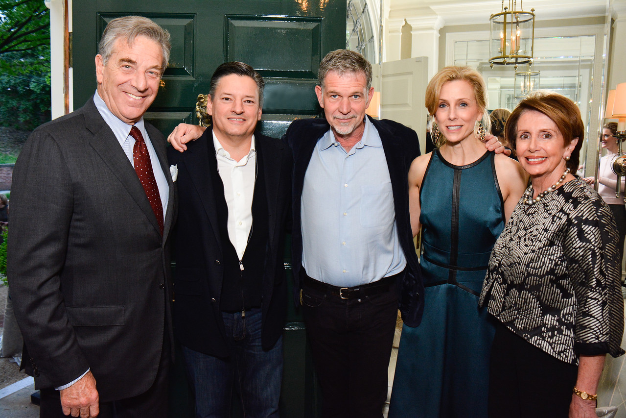 Paul Pelosi, Ted Sarandos, Reed Hastings, Katherine Bradley, Nancy Pelosi