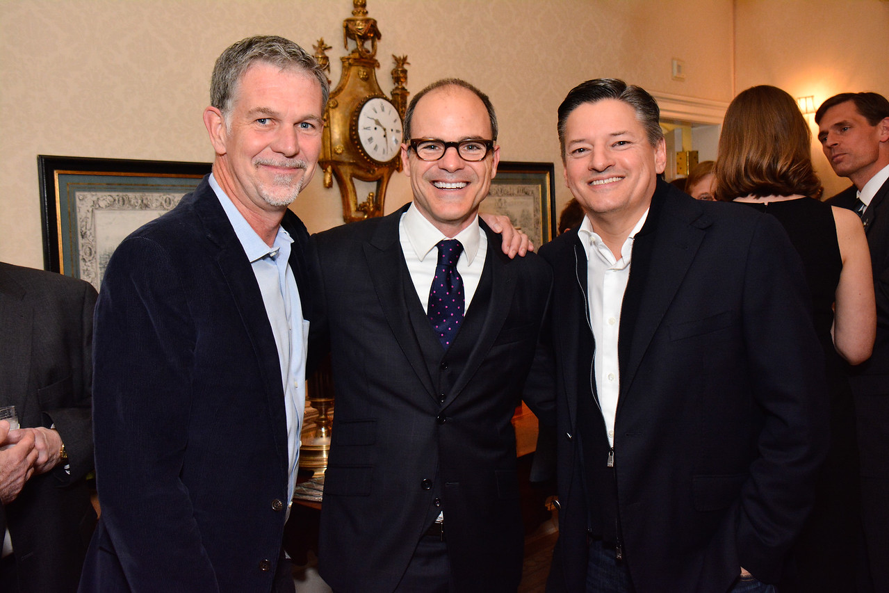 Reed Hastings, Michael Kelly, Ted Sarandos