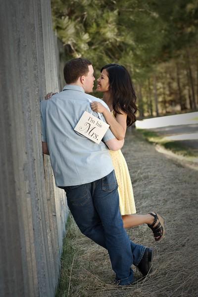 Cute shot along the metal wall