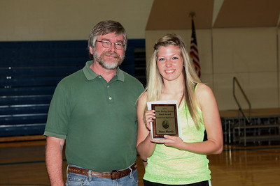 The John Philip Sousa Award for the outstanding senior band member went to Stacy Hurrle.