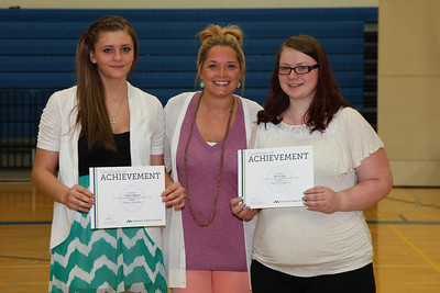 Jenna Anderson and Keisa Lange were presented scholarships from the MN School of Business.