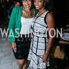 """Latoya Lewis, Ashley McNeil-Coleman. Photo by Alfredo Flores. Knock Out Abuse Jr. Board """"Party for a Cause."""" Teddy and The Bully Bar. July 10, 2014"""