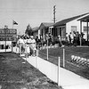 Visiting model homes, 1950