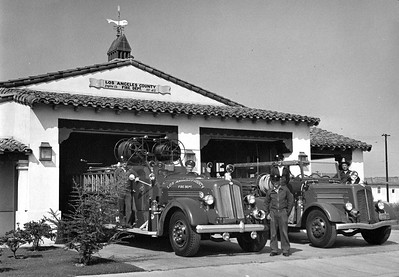 Lakewood's first county fire station, 1950