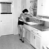 Counter tops of stainless steel, 1950