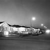 Lakewood Park model homes at night, 1950