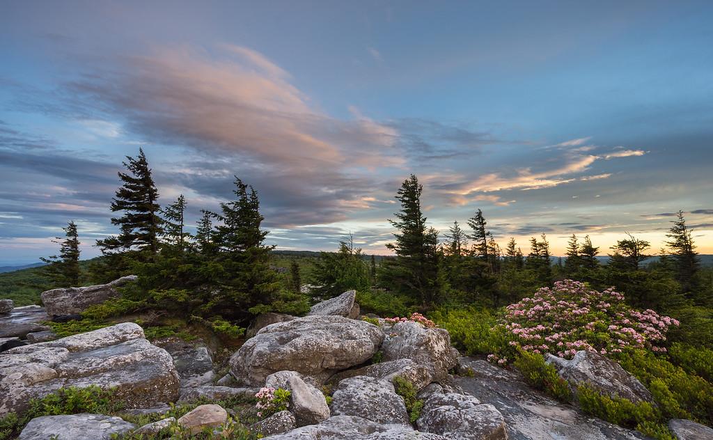 Bear Rocks Sunset