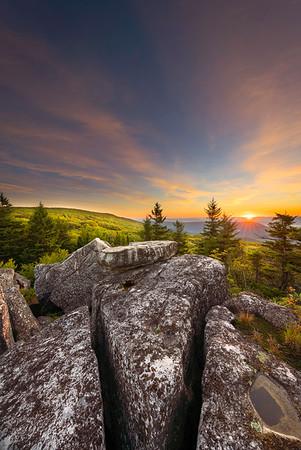 Sunrise, Dolly Sods West Virginia, September 2020
