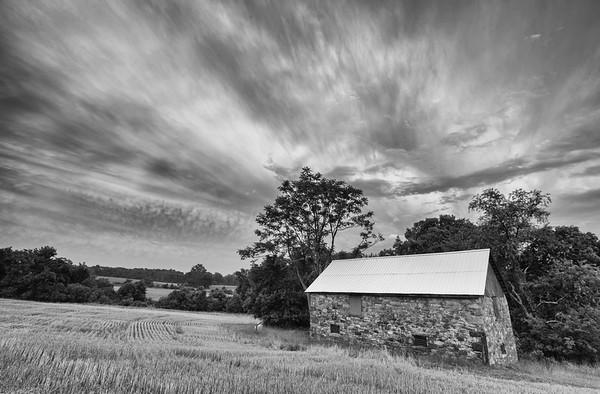 Seneca Stone Barn, Monochrome