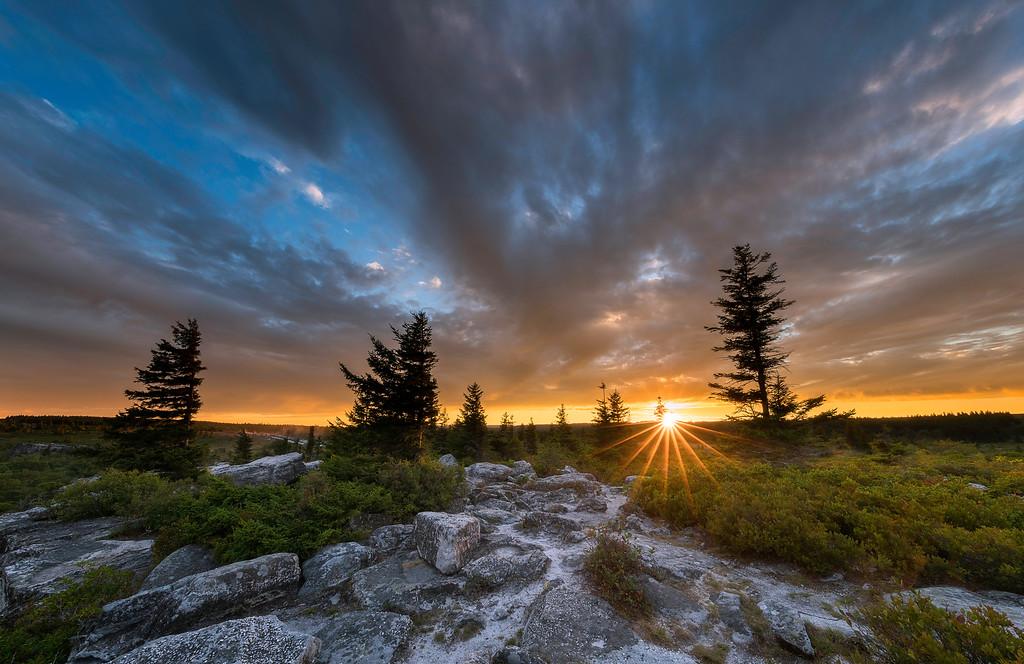 Bear Rocks at Sunset