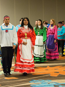 Choctaw Dancers make an entrance at the Lawton Choctaw Cultural Meeting.