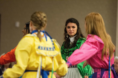 Choctaw women dance during the Lawton Choctaw Cultural Meeting.