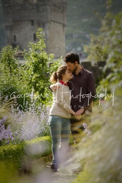 Romantic walk at the castle